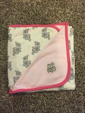 NWT Gymboree Squirrel Cotton Reversible Receiving Blanket Baby Girls Pink
