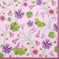 4x Single Table Party Paper Napkins for Decoupage Decopatch Craft Redwood Clover