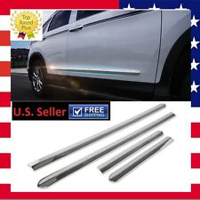 US Chrome Side Body Door Moulding Lid Cover Trim Plate Kit for Honda CRV 12 - 17