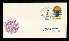 US Naval Ship Cover USS Warrington DD-843 Vietnam War 1966