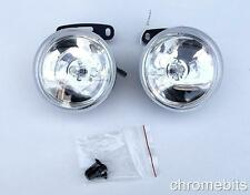 "UNIVERSAL 12v CLEAR ROUND FOG SPOT LIGHTS LAMPS LIGHT 90MM 3.54"" FOR PEUGEOT"
