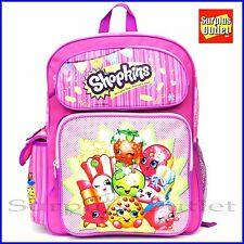 """Shopkins Backpack 16"""" Large School Book Bag"""