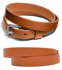 COACH 66578 Camden w/Silver Double Wrap Signature Embossed Leather Bracelet $48