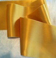 """2"""" WIDE SWISS DOUBLE FACE SATIN RIBBON- OLD GOLD / MUSTARD - BY THE YARD"""