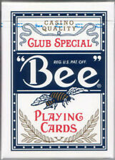 Bee Deck - Blue - Poker Size - Playing Cards - Magic Tricks - New