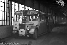 Rotherham Corporation Transport No.118 inside depot Bus Photo c
