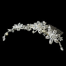 Elegant Crystal Couture Bridal Side Comb #3826