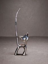 Silver / Chrome Color Cat Ring Holder Jewellery Gift Christmas #4