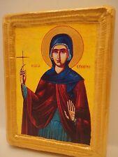 Saint Hermione Hermioni Agia Ermioni Greek Orthodox Religious Icon on Real Wood