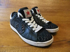 Converse Dwayne Wade Black Leather Trainers Size UK 6 EUR 40