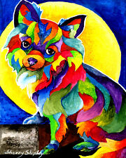 Long Haired Chihuahua 8X10 DOG Print from Artist Sherry Shipley
