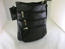 Women Leather Travel Crossbody Handbag Waist Bag Belt Pouch Lambskin