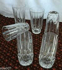 Set of 6 Block Crystal Clear Glass OLYMPIC Tall Tumblers 11 Ounce