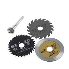 3 Pcs 54.8mm HSS Mini Wood Circular Saw Blade Cutting Blade Rotary Tool +Mandrel