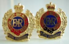 CORPS OF ROYAL ENGINEERS CLASSIC HAND MADE GOLD PLATED REGIMENTAL CUFFLINKS