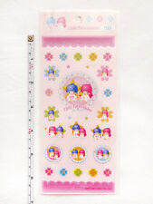 VINTAGE 1976, 1999 SANRIO LITTLE TWIN STARS Glitter Embossed Scrapbook Stickers