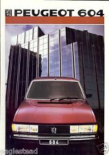 Auto Brochure - Peugeot - 604 - 1986 - Francais French language (AB456)