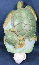 Night Light Sea Turtles Bonded Marble Home Decor