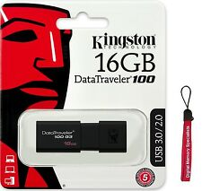Kingston 16GB DT100 G3 16G USB 3.0 Flash Drive Memory Storage DT100G3/16GB +Lany