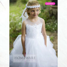 GIRLS HOLY COMMUNION DRESSES BRIDESMAID WEDDING FLOWER GIRL DRESS UK SIZES NEW