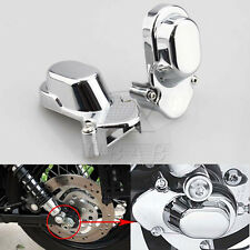 2x Chrome Rear Axle Cover For Harley Davidson Sportster Custom 883 1200 05-2014