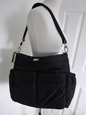 BNWT Kate Spade Black Nylon Adamson Baby Tote Bag with Changing Mat