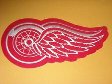 "AWESOME NHL DETROIT RED WINGS IRON ON JACKET PATCH 9 1/2"" X 4"""