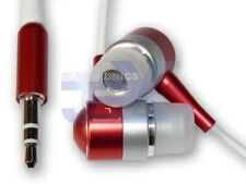 High Quality Red & Silver Aluminum Earbuds Earphones Headphones For Ipod MP3/MP4