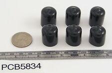 """12 Push-On Pliable Vinyl Caps - Plastic tips- End Caps 5/8"""" Inner Diam - 3/4"""" Ht"""