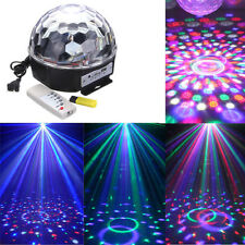 RGB LED MP3 Disco Home Party Crystal Magic Ball Stage Ceiling Effect Light Lamp