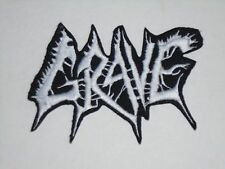 GRAVE DEATH METAL IRON ON EMBROIDERED PATCH