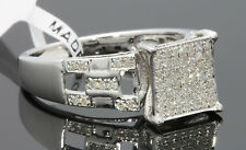 .38 CARAT REAL DIAMOND WOMENS WHITE GOLD FINISH ENGAGEMENT BRIDAL WEDDING RING