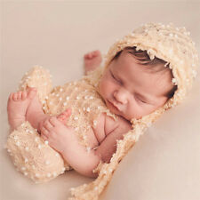 2pc Crochet Newborn Photography Knit Dot Hat Pants Costume Baby Photo Props