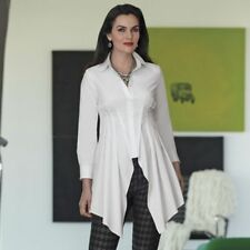Midnight Velvet Theatric White Shirt NEW size Large Button Down Tunic