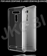 Soft Silicone Back Case For ASUS ZENFONE 2 LASER ZE601KL (6 Inch) - Transparent