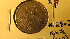 Austria 1895 10 Heller Coin KM#2802  nickel steel