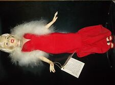 1983 Marilyn Monroe Red Gown with Boa Doll by World Doll Inc.