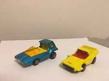 Matchbox cars soopa scoopa #37 & woosh-n-push #58    1972