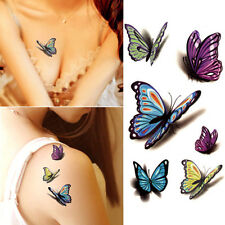 Decal Waterproof Temporary Tattoo Sticker Colorful Butterfly Fake Tattoos