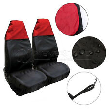 2x Universal Car Seat Cover Front Waterproof Van Auto Vehicle Protector Red