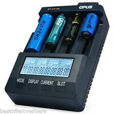 Opus C3100 V2.2 Digital Intelligent 4 Slots Battery Charger Compatible US Plug
