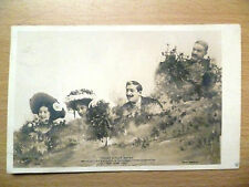 Pre WW1 Real Theatrical Scene Postcard- Three Little Maids (+Stamp)