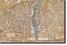 Carte de paris de 1550-vieille VINTAGE PHOTO PRINT POSTER-France