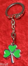 Small Irish Shamrock Keyring Ireland Eire Gaelic Key Ring St Patricks Day Gift
