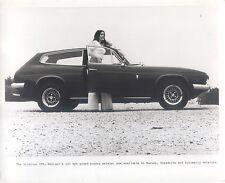 Reliant Scimitar GTE 120 mph Original Blanco y Negro fotografía de prensa vista lateral Circa 1968