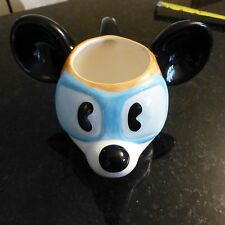 Aviator Mickey Mous head Applause ceramic mug  - EUC  X