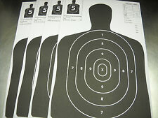 160 Black Silhouette hand gun and rifle paper shooting targets 11X17