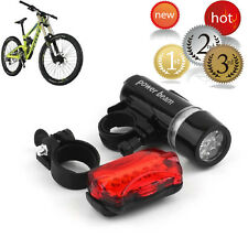 New Waterproof 5LED Lamp Bike Bicycle Front Head Light+Rear Safety Flashlight BY