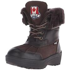 Pajar 4035 Womens KellyP Brown Suede Lined Snow Boots Shoes 9 Medium (B,M) BHFO