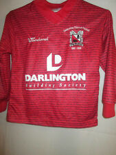 "Darlington 2007-2008 Limited Edition Away Football Shirt Size 24""-26"" LS YXS /sh"